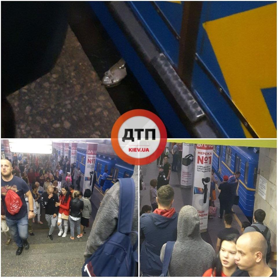 """На станции """"Оболонь"""" пассажирка бросилась под поезд и погибла"""