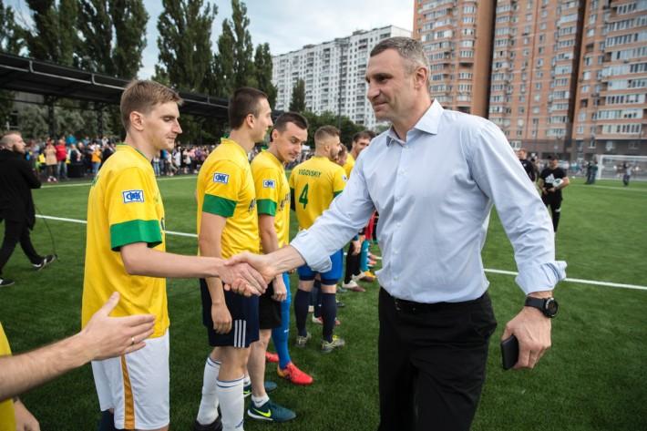 В Днепровском районе появится обновленный спортивный стадион