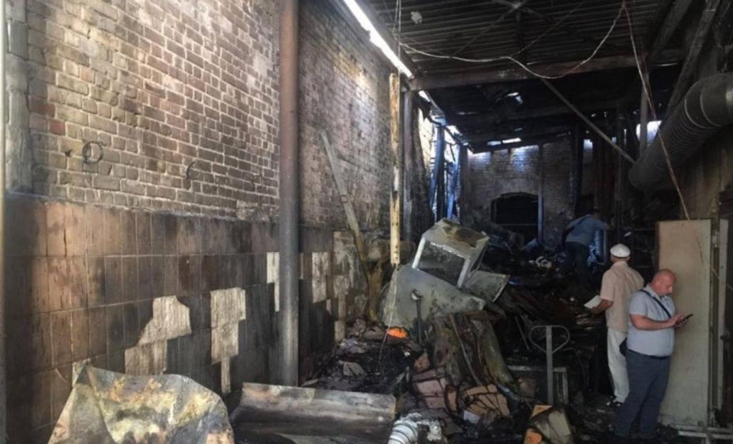 В центре Киева случился масштабный пожар