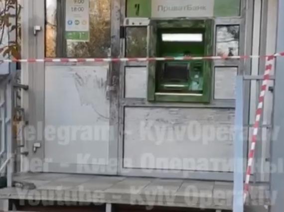 Грабители пытались взорвать банкомат в Киеве
