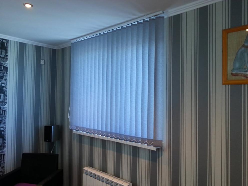 Строение вертикальных жалюзи и используемые ткани