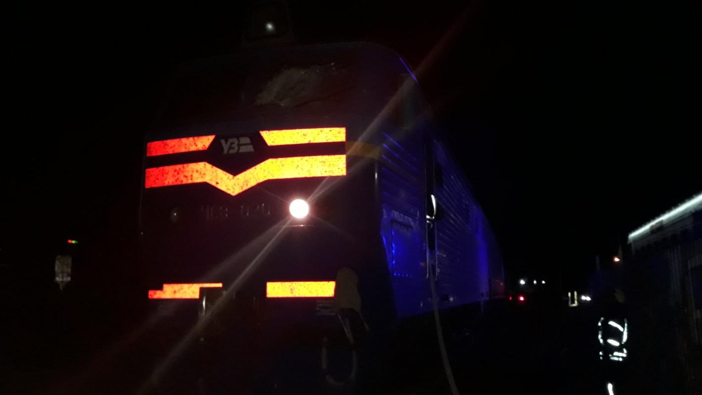 Вблизи Киева загорелся поезд с пассажирами