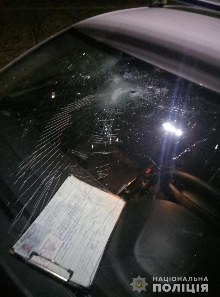 На Киевщине женщина с камнем напала на полицейских