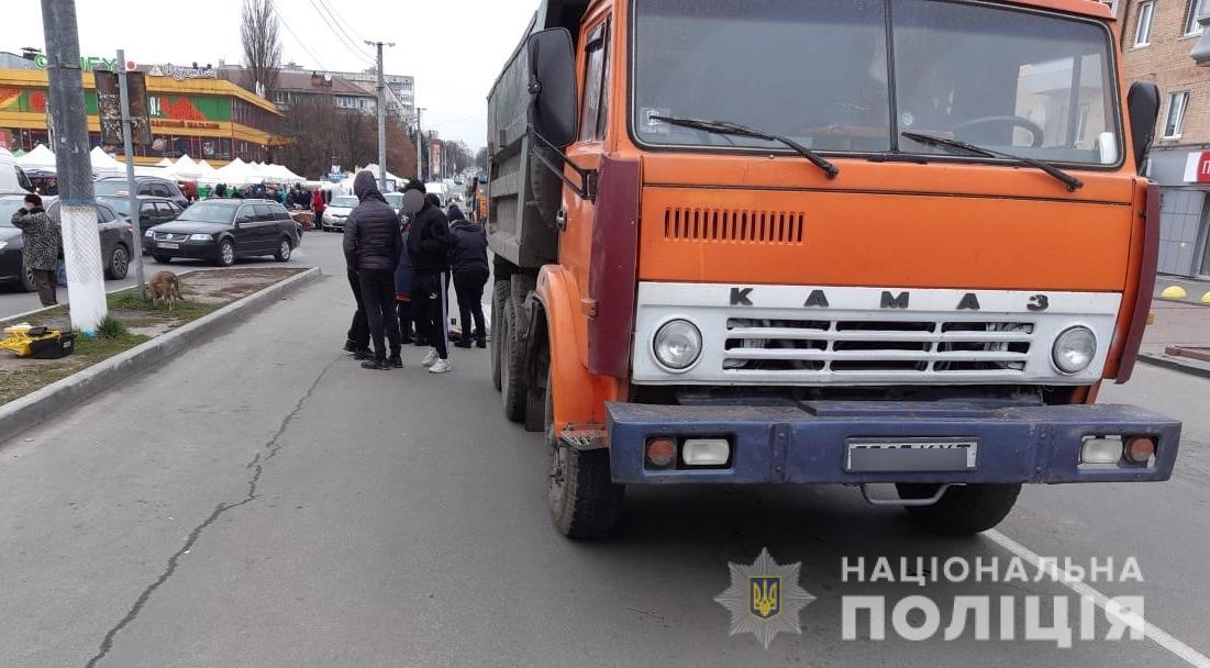 В Василькове грузовик насмерть сбил пенсионерку