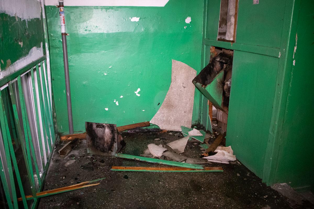 В жилом доме Киева взорвался мусоропровод
