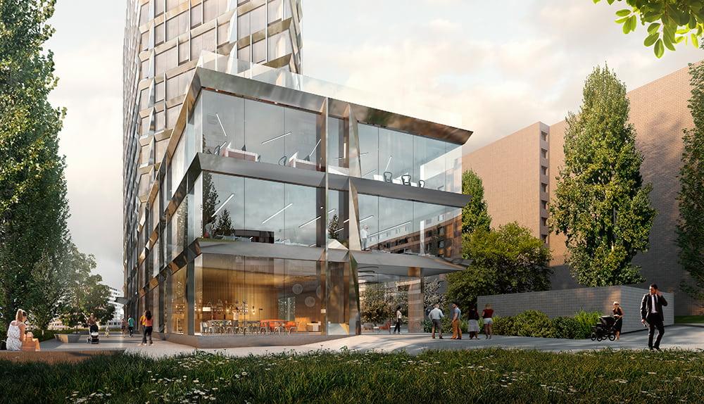 На Печерске появится клубный дом с динамичным фасадом PHILADELPHIA Concept House