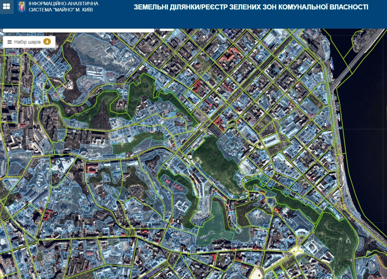 В Киеве начал работу электронный реестр парков и скверов