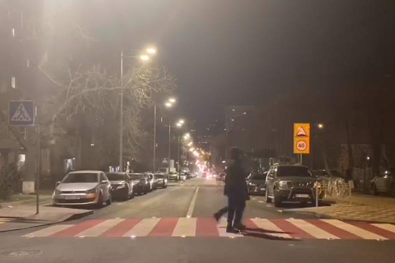 В Киеве появились мерцающие пешеходные переходы