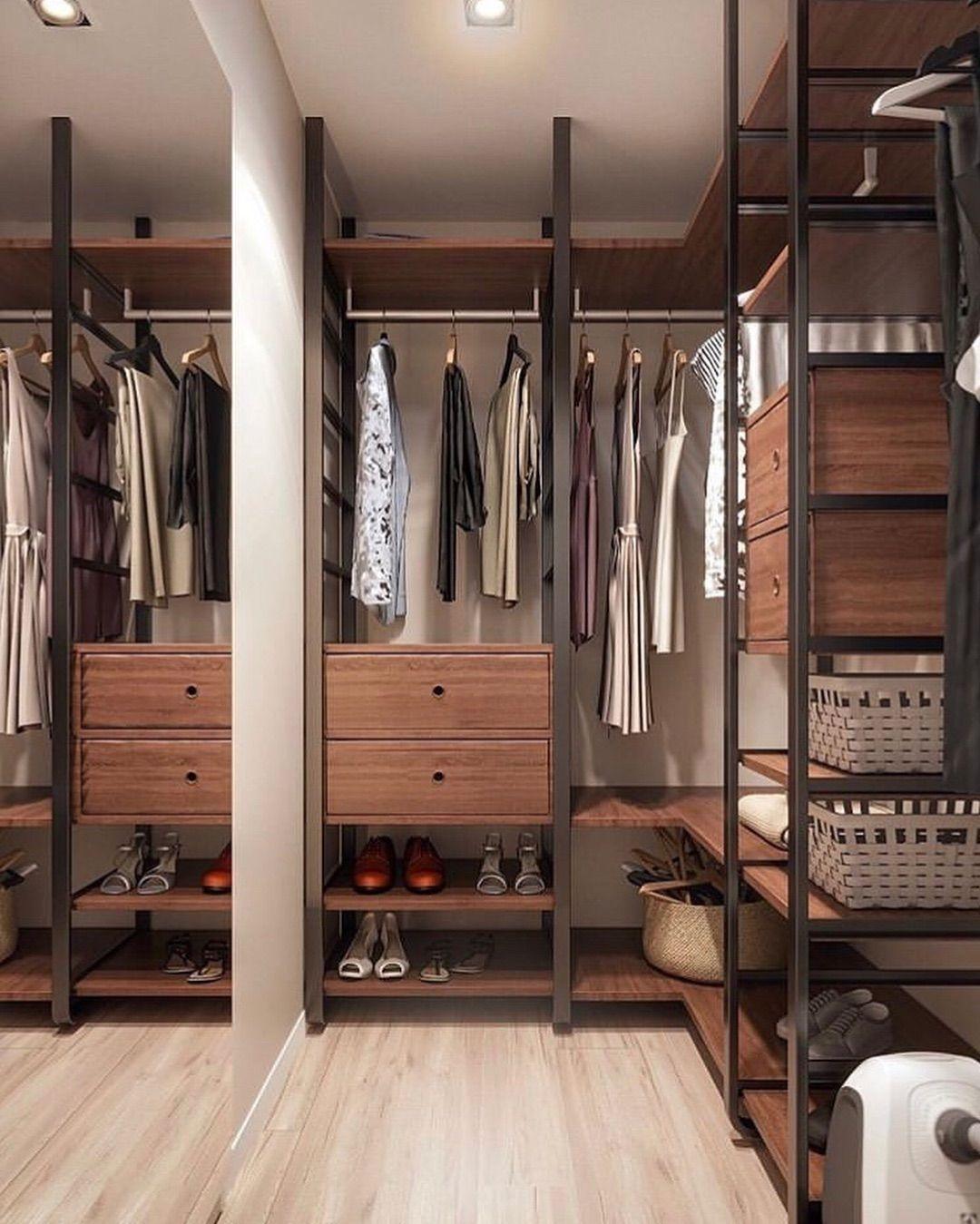 Обустройство гардеробной в стиле лофт: правила и детали стилистического оформления