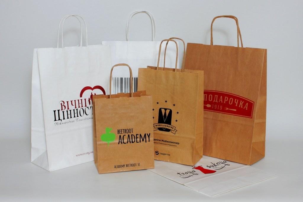 Печать на крафт пакетах – элегантный и эффективный способ рекламы