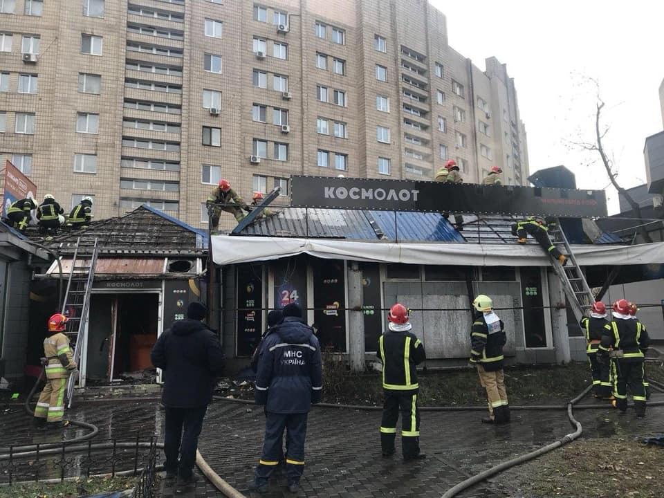 На проспекте Науки сгорело запрещенное казино