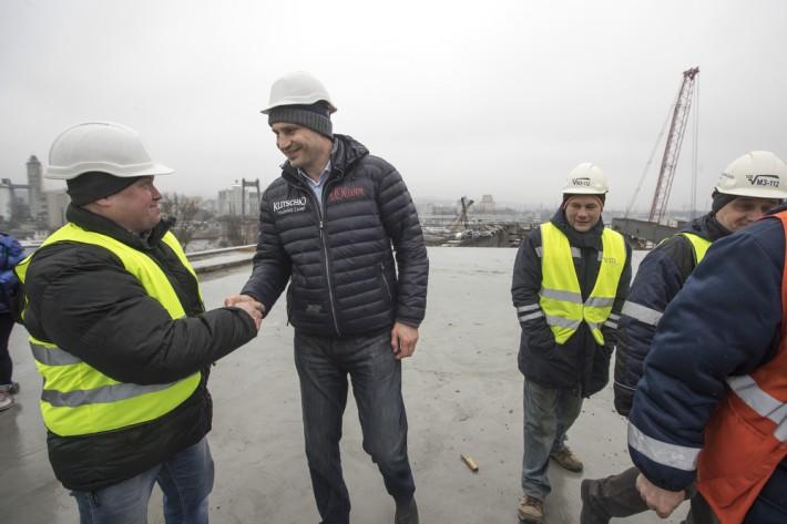 Кличко назвал дату открытия Подольско-Воскресенского моста в Киеве