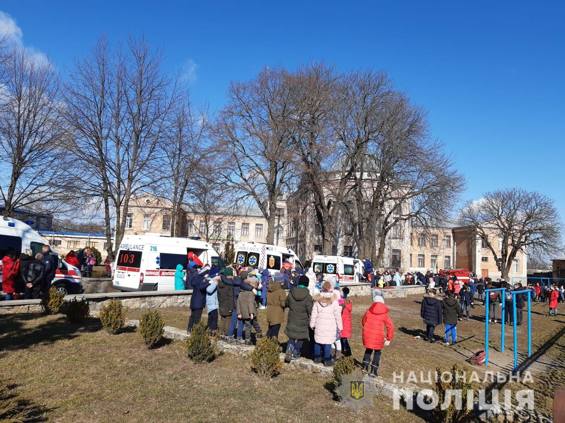 В школе под Киевом детям стало плохо из-за газа