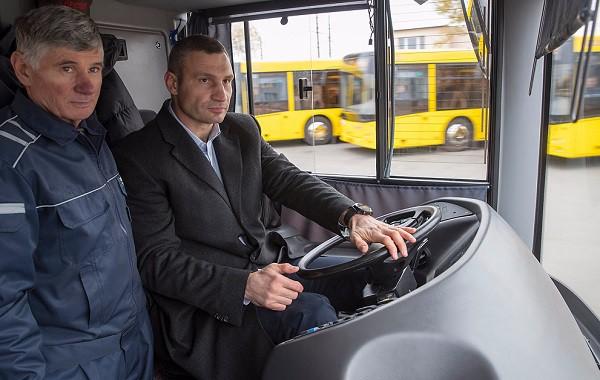 Кличко заявил, что купит много новых автобусов