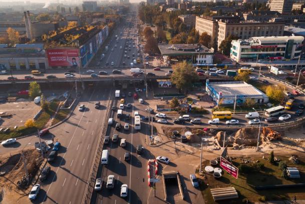 У Шулявского моста появились съезды и заезды