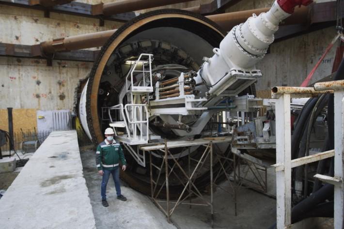 Кличко рассказал, как проходит строительство метро на Виноградарь