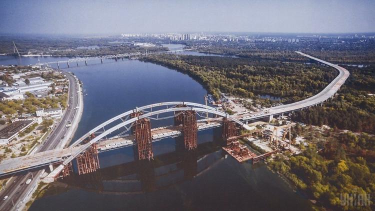 Кличко заявил, что строительство Подольско-Воскресенского моста идет по графику