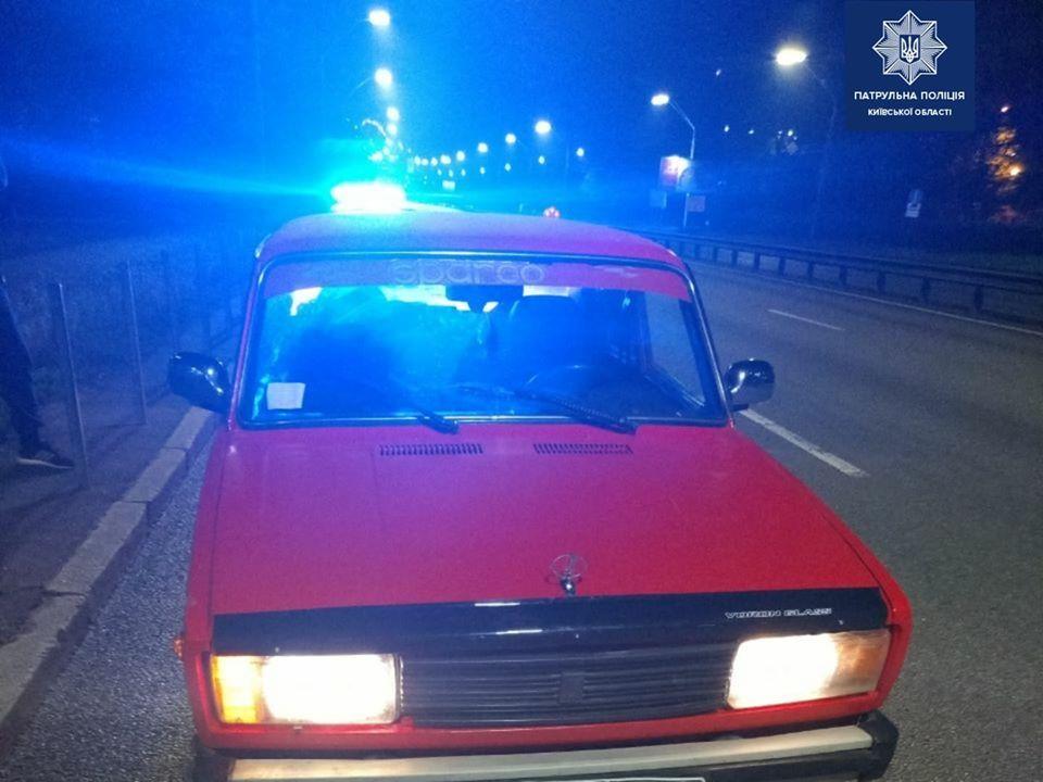 На Киевщине патрульные нашли автомобиль, угнанный пять лет назад из столицы