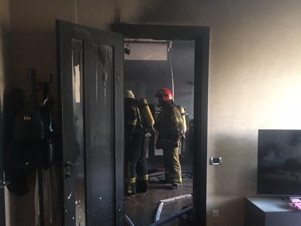 В квартире дома на Печерске сгорела баня