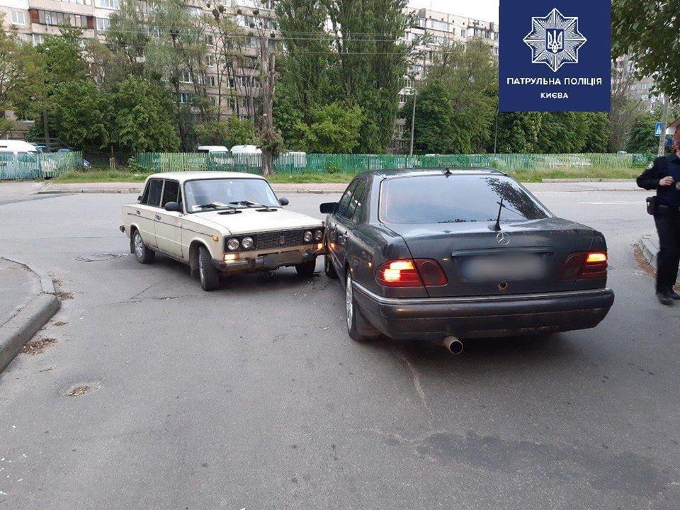 В Киеве в ДТП попали сразу два пьяных водителя