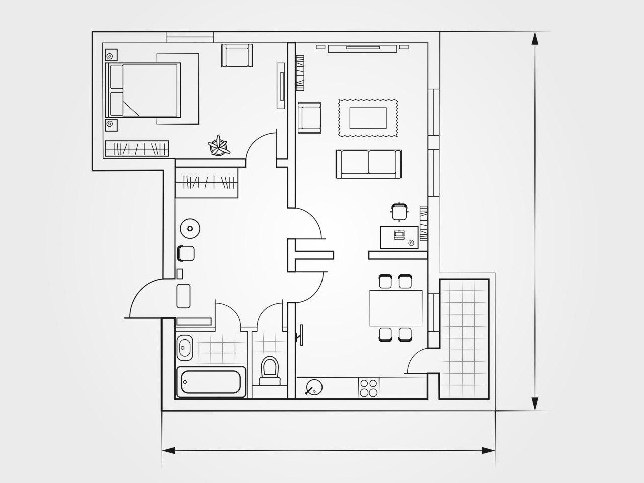 Что входит в общую площадь квартиры?