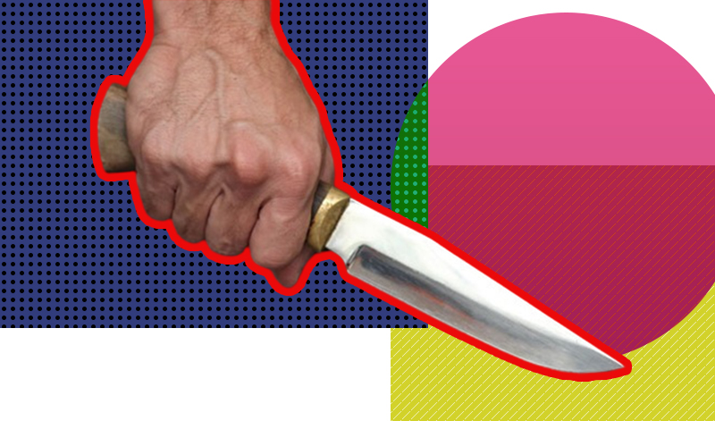 В Киеве мужчина с ножом напал на свою дочь с 9-месячным внуком