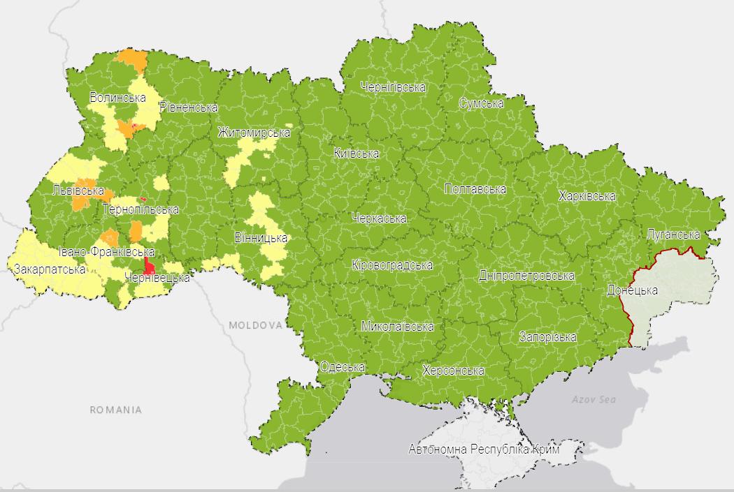 "Киев оказался в ""зеленой"" зоне карантина"