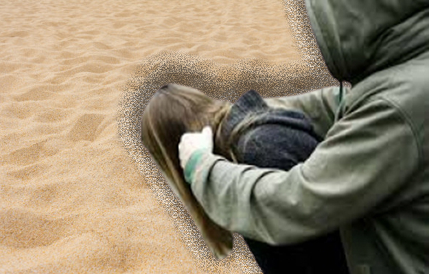 В Киеве на пляже мужчины напали на женщину
