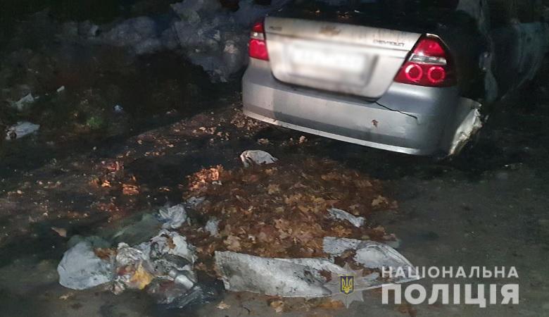 В Киеве пенсионеру сожгли автомобиль. Всему виной сухие листья