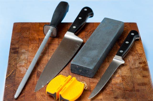 Как правильно точить профессиональные ножи
